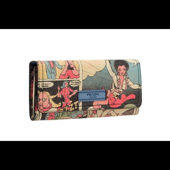 887803244bc914 Limited edition Prada- Comic print wallet. M_5c622432bb76155d19589407